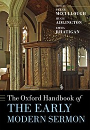 Cover of: The Oxford handbook of the early modern sermon