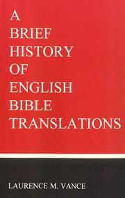 Cover of: A brief history of English Bible translations