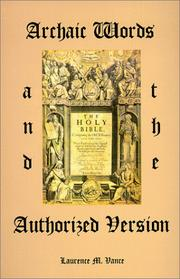 Cover of: Archaic Words and the Authorized Version