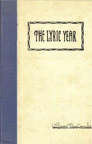 Cover of: The Lyric Year | Wilson MacDonald