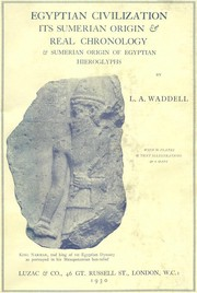 Cover of: Egyptian civilization: its Sumerian origin and real chronology.