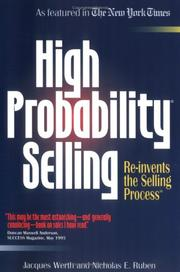 Cover of: High probability selling