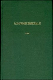 Cover of: Farnsworth memorial II