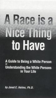Cover of: A race is a nice thing to have