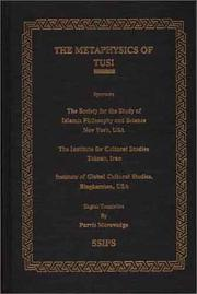 Cover of: Metaphysics of Tusi