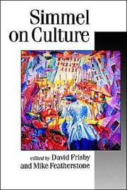 Cover of: Simmel on culture: selected writings