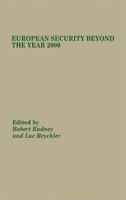 Cover of: European Security Beyond The Year 2000