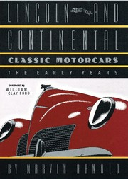 Cover of: Lincoln and Continental classic motorcars