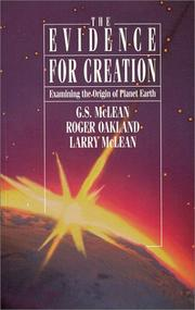 Cover of: The evidence for creation