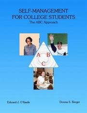 Cover of: Self-management for College Students | Edward J. O