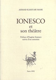 Cover of: Ionesco et son théâtre by