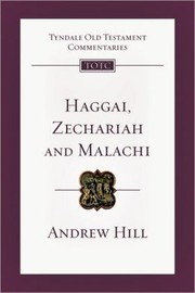 Cover of: Haggai, Zechariah and Malachi |