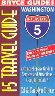 Bryce guides presents I-5 travel guide Washington by Ed Bryce