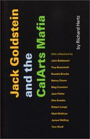 Cover of: Jack Goldstein and the CalArts Mafia | Richard Hertz