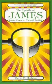 Cover of: The Epistle of James