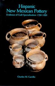 Cover of: Hispanic New Mexican Pottery | Charles M. Carrillo