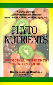 Cover of: Phytonutrients | Beth M. Ley