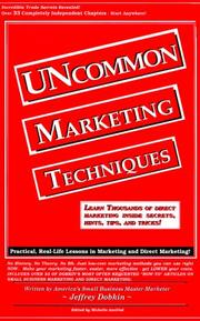 Cover of: UNcommon marketing techniques | Jeffrey Dobkin