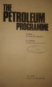 Cover of: The petroleum programme | P. L. Sandler