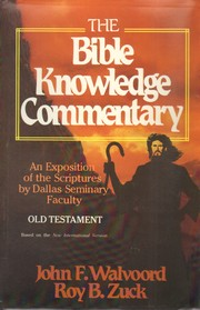 Cover of: Bible Knowledge Commentary Old Testament |