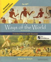 Cover of: Ways of the world vol II