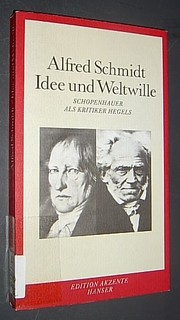 Cover of: Idee und Weltwille