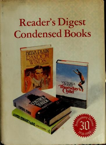 Reader's digest condensed books by Victoria Poole, Plain, Belva., Jon Cleary, Robert P. Davis
