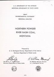 Cover of: Northern Powder River basin coal, Montana