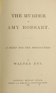 Cover of: The murder of Amy Robsart