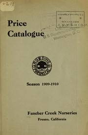 Cover of: Price catalogue season 1909-1910