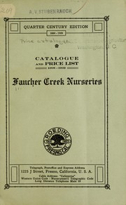 Cover of: Catalogue and price list season 1908-1909