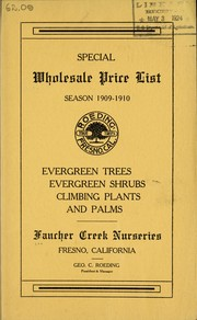 Cover of: Special wholesale price list season 1909-1910