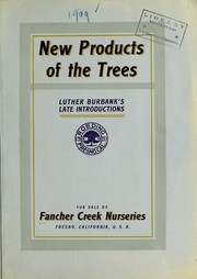 Cover of: New products of the trees