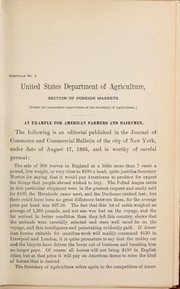 Cover of: An example for American farmers and dairymen