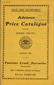 Cover of: Advance price catalogue