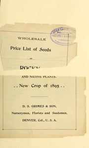 Wholesale price list of seeds