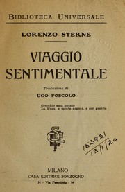 Cover of: Viaggio sentimentale