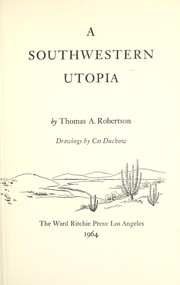 Cover of: A southwestern Utopia |