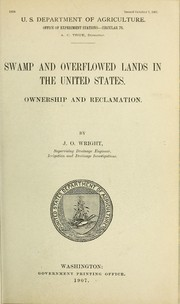 Cover of: Swamp and overflowed lands in the United States