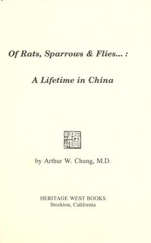 Of rats, sparrows & flies–
