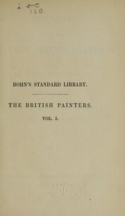 Cover of: The lives of the most eminent British painters
