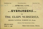 Cover of: Special 1895 | Elgin Nurseries