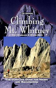 Cover of: The original climbing Mt. Whitney | Walt Wheelock