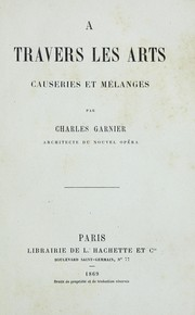 Cover of: A travers les arts