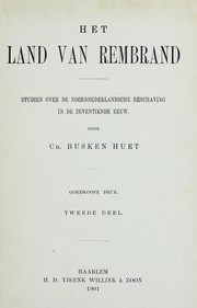 Cover of: Het land van Rembrand
