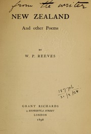 Cover of: New Zealand and other poems