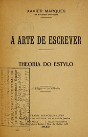 Cover of: A arte de escrever