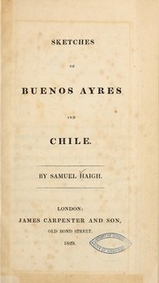 Cover of: Sketches of Buenos Ayres and Chile