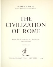 Cover of: The civilization of Rome