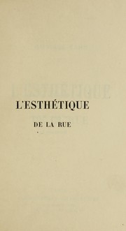 Cover of: L'esthetique de la rue